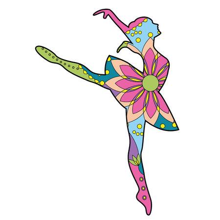 カラフルなベクトルのバレエ ダンサー  イラスト・ベクター素材