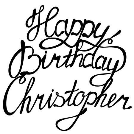 christopher: Vector happy birthday lettering Christopher
