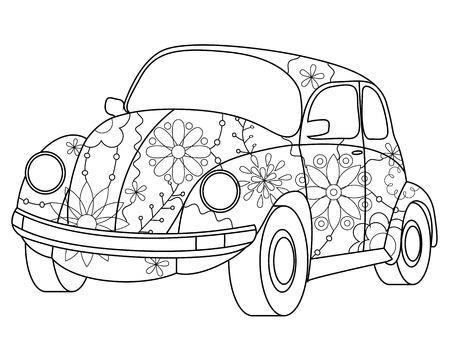 vectoe: Vectoe beetle car coloring