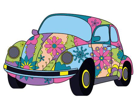 vectoe: Vectoe beetle car colorful