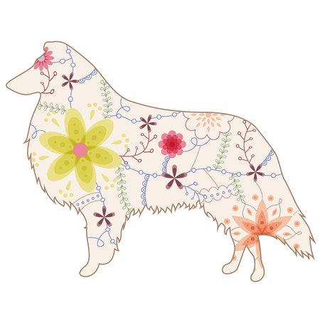 collie: Collie dog vintage