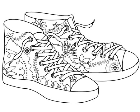 retail therapy: vector gumshoes coloring