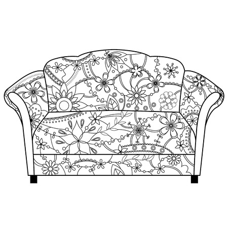 couch: vector couch coloring