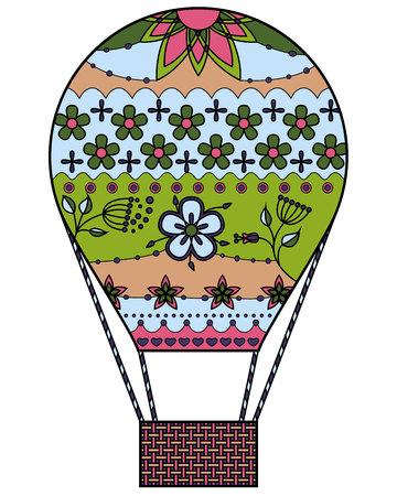 air: Vector air balloon colorful