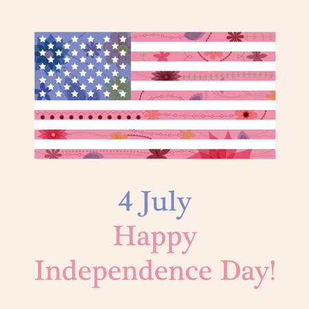 flad: Vector happy independence day background