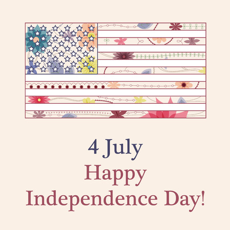 Vector happy independence day background