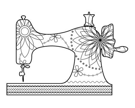 Vector kleuren naaimachine