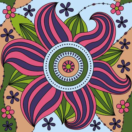 big flower: Vector big flower pattern colorful