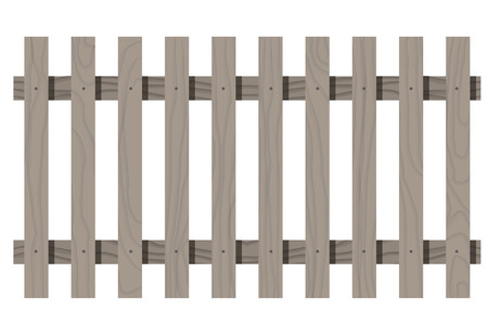 rectangle: Vector wooden seamless fence rectangle shape isolated Illustration