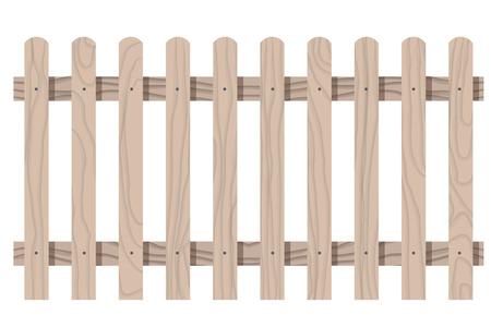 Vector houten naadloos omheining ronde vorm geïsoleerde