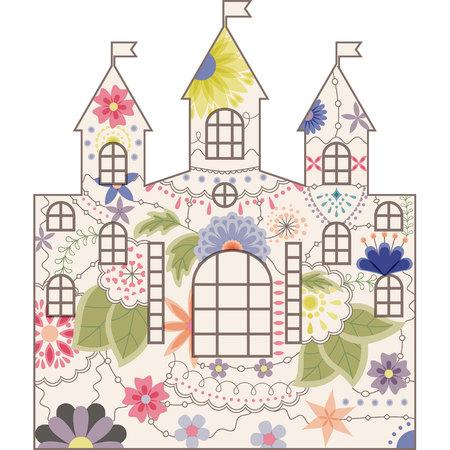 design design elemnt: Vector silhouette, stencil, template castle vintage Illustration