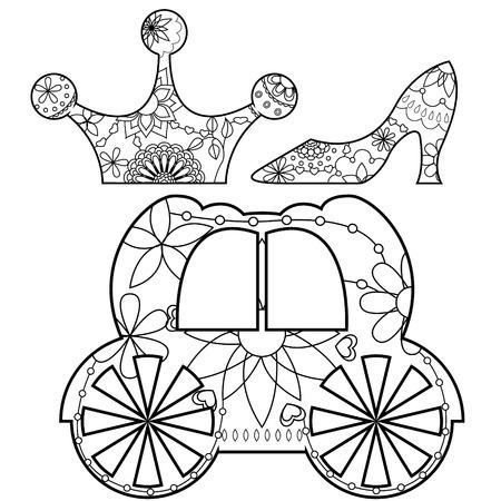 cinderella: Vector Cinderella set coloring