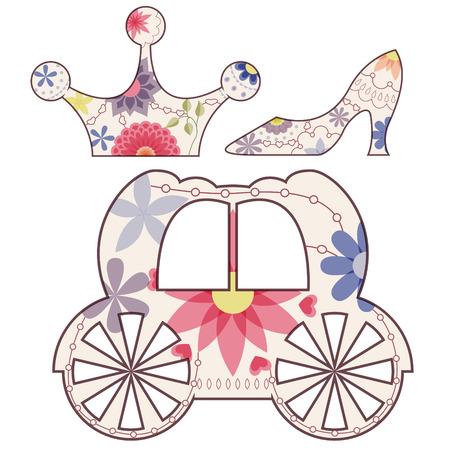 cinderella: Vector Cinderella set vintage
