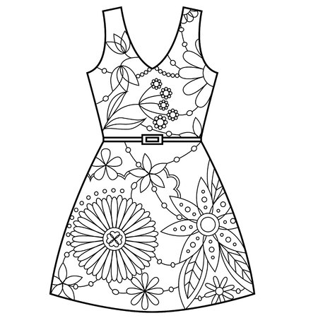 retail therapy: Vector dress coloring