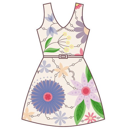 gently: Vector dress vintage Illustration