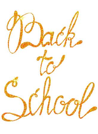 Vector lettering back to school september tinsels Illustration