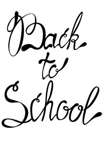 september: Vector lettering back to school september