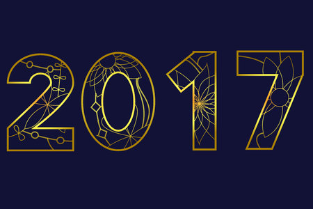 calandar: 2017 year golden