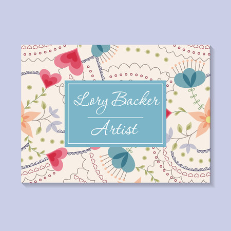 business card: Vector floral business card