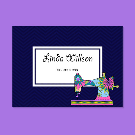 seamstress: Vector business card for seamstress Illustration