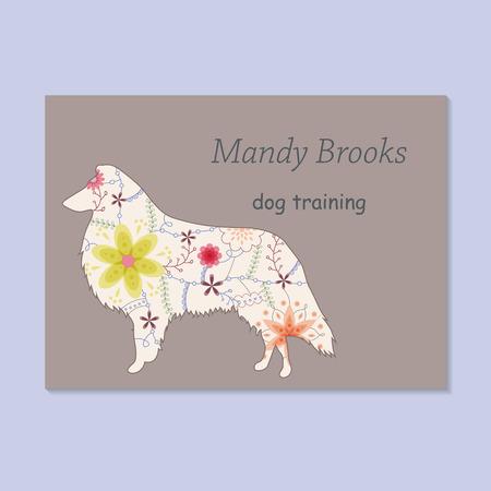 Vector vintage business card for children wear designer royalty free vector vintage business card for dog training vector colourmoves