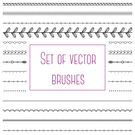 devider: Vector set of simple brushes