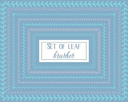 devider: Vector set of leaf brushes