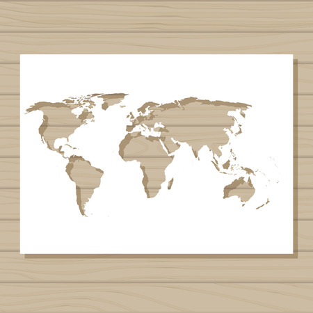 Vector stencil template of italy map on wooden background royalty 63309225 vector stencil template of world map on wooden background gumiabroncs Image collections