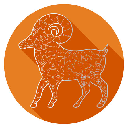 adverts: Vector flat icon of zodiac sign Aries