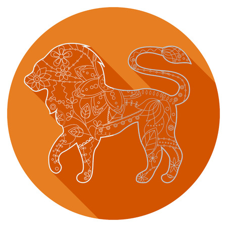 adverts: Vector flat icon of zodiac sign Leo Illustration