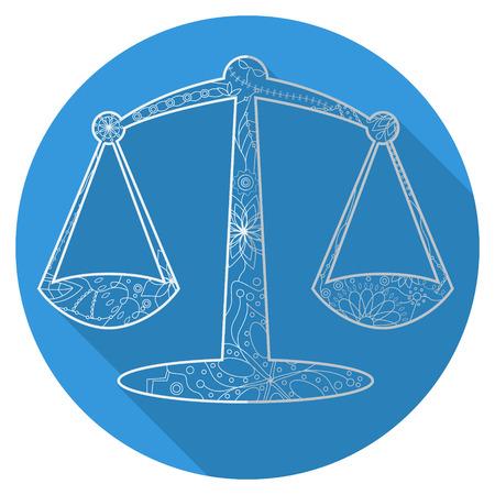 libra: Vector flat icon of zodiac sign Libra