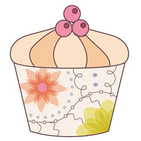 Vector cupcake vintage