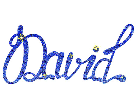 Vector David name lettering tinsels