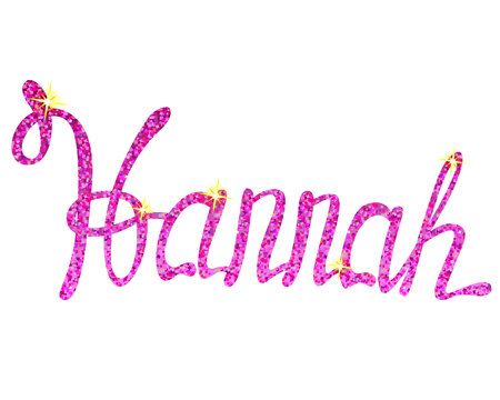 Vector Hannah name lettering tinsels Illustration