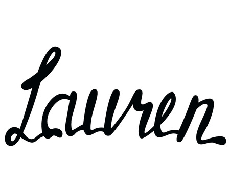 Vector Lauren name lettering