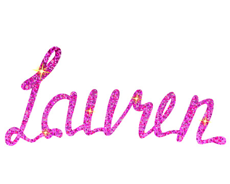 Vector Lauren name lettering tinsels Illustration