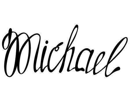 Vector Michael name lettering