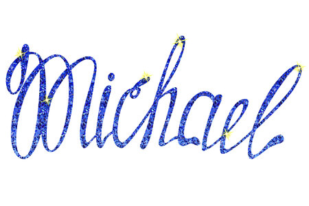 Vector Michael name lettering tinsels
