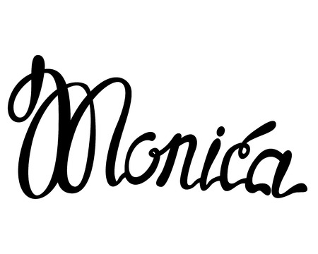 Vector Monica name lettering