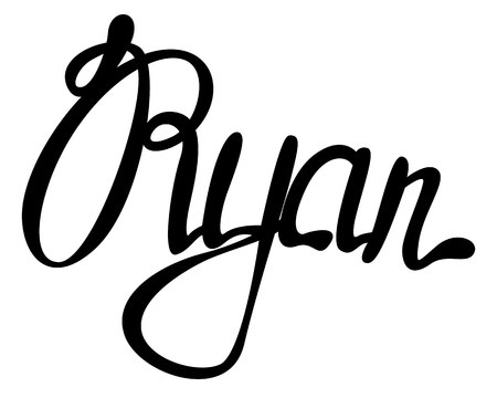 Vector Ryan name lettering