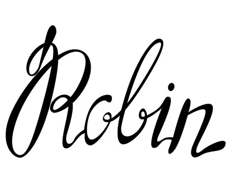 Vector Robin name lettering Illustration