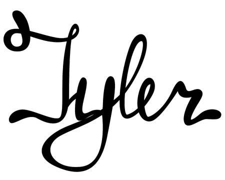 Vector Tyler name lettering