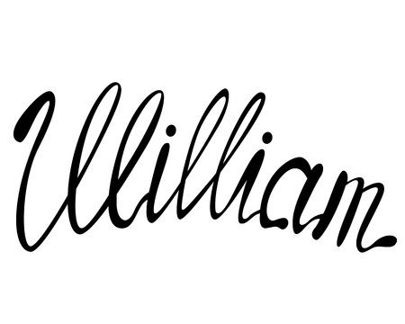 Vector William name lettering