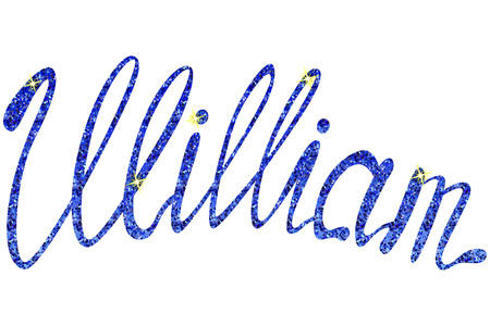 Vector William name lettering tinsels
