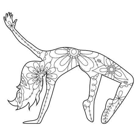Vector modern dancer coloring silhouette
