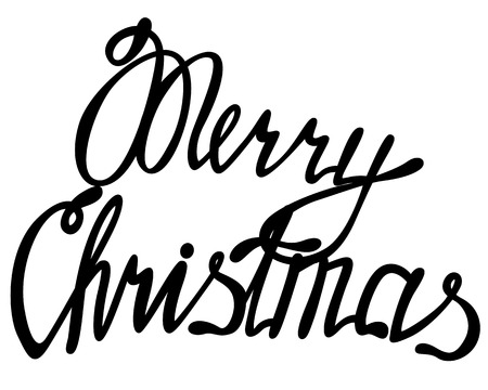 Vector merry Christmas lettering