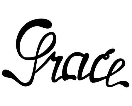 Vector Grace name lettering