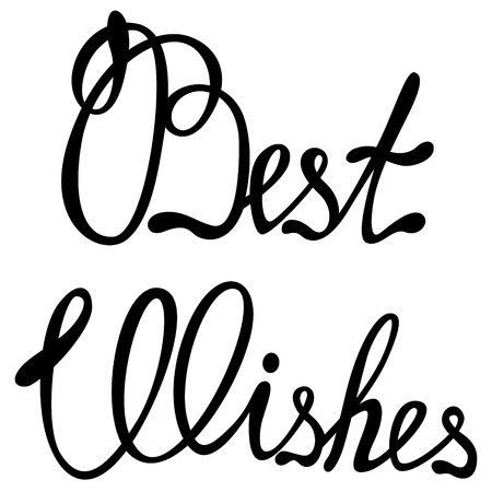 best wishes: Vector best wishes lettering