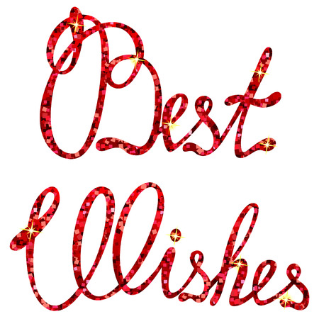 best wishes: Vector best wishes lettering tinsels
