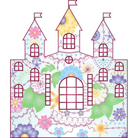 vector silhouette, stencil, template castle gradient Illustration